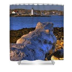 Portsmouth Harbor Light Shower Curtain by Joann Vitali