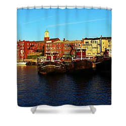 Portsmouth In The Afternoon Shower Curtain by Kevin Fortier