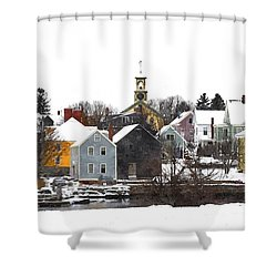 Portsmouth Waterfront Pwwc Shower Curtain