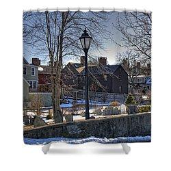 Portsmouth Winter Shower Curtain by Joann Vitali