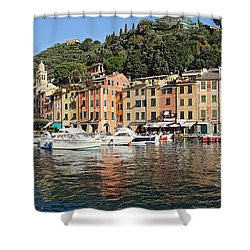Shower Curtain featuring the photograph Porttofino - Italy by Antonio Scarpi
