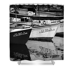 Portuguese Fishing Boats Shower Curtain