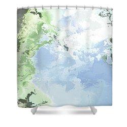 Poseidon Enosichthon Shower Curtain
