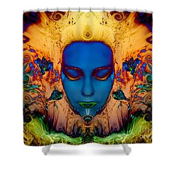 Shower Curtain featuring the photograph Poseidons Maiden by Heather King