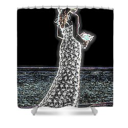 Posing Shyly Shower Curtain