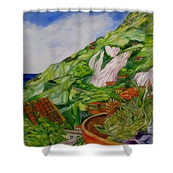 Positano Terrace Shower Curtain