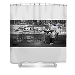 Shower Curtain featuring the photograph Positive Meditation On The River by Stwayne Keubrick