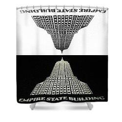 Positive - Negative Shower Curtain by Natasha Marco