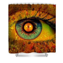 Possessed Shower Curtain by Ally  White