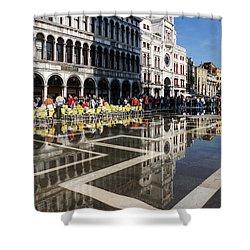 Shower Curtain featuring the photograph Postcard From Venice by Georgia Mizuleva