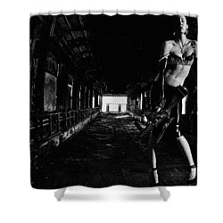 Posted Exacerbation Shower Curtain by Cecil K Brissette