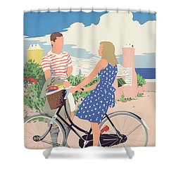 Poster Advertising Bermuda Shower Curtain by Adolph Treidler