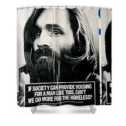 Poster Boy Charlie Shower Curtain