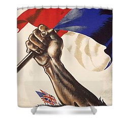 Poster For Liberation Of France From World War II 1944 Shower Curtain by Anonymous
