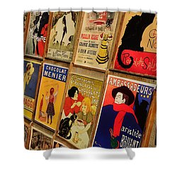 Posters In Paris Shower Curtain by Dany Lison