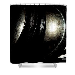 Shower Curtain featuring the photograph Pot Lids by Newel Hunter