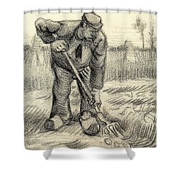 Potato Gatherer Shower Curtain