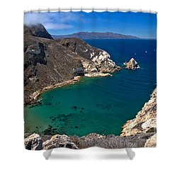 Potato Harbor Views Shower Curtain