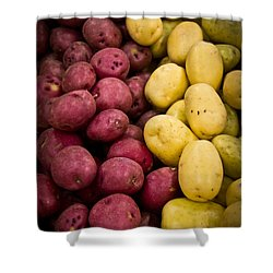 Potatoes Shower Curtain by Aaron Berg