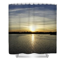 Potomac Sunset Shower Curtain by Laurie Perry