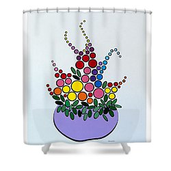 Potted Blooms - Lavendar Shower Curtain by Thomas Gronowski