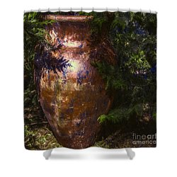 Shower Curtain featuring the photograph Potters Clay by Jean OKeeffe Macro Abundance Art