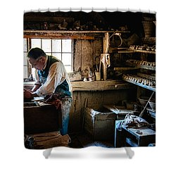 Potters Shed Shower Curtain by Scott Thorp