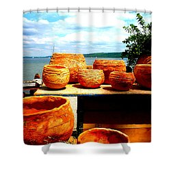 Pottery Market Diessen Shower Curtain by The Creative Minds Art and Photography