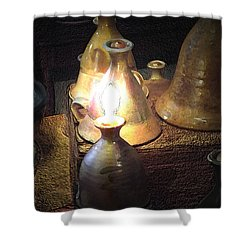 Pottery Oil Lamp  Shower Curtain