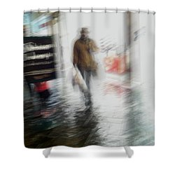 Shower Curtain featuring the photograph Pounding The Pavement by Alex Lapidus