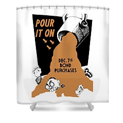 Pour It On December 7th Bond Purchases Shower Curtain by War Is Hell Store