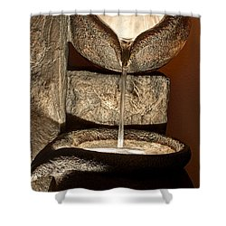 Pouring Out Water Art Prints Shower Curtain by Valerie Garner