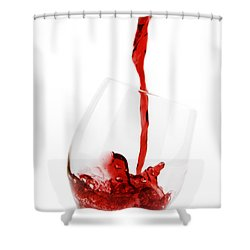 Pouring Red Wine Shower Curtain by Chevy Fleet