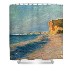 Pourville Near Dieppe Shower Curtain by Claude Monet