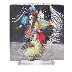 Pow Wow 2 Shower Curtain by Yoshiko Mishina