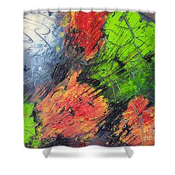 Shower Curtain featuring the painting Powder And Puff by Lucy Matta