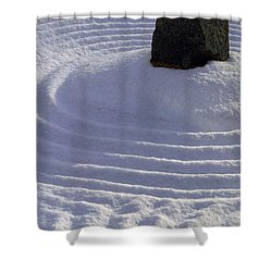 Powder In Zen One Shower Curtain by Feile Case
