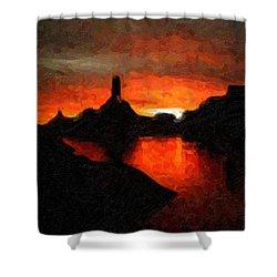 Powell Sunset Shower Curtain
