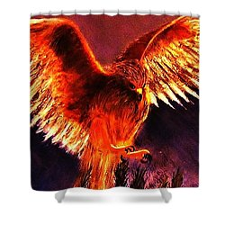 Shower Curtain featuring the painting Power.. by Cristina Mihailescu