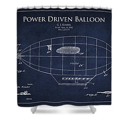Power Driven Balloon Patent Shower Curtain by Aged Pixel