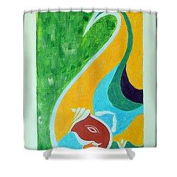 Power Of Aum Shower Curtain by Sonali Gangane