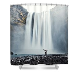 Power Of Elements Shower Curtain by Matteo Colombo