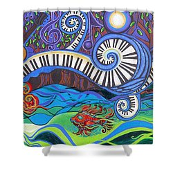 Power Of Music II  Shower Curtain by Genevieve Esson