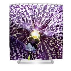 Power Of Purple Shower Curtain by Karen Wiles