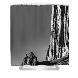 Power Of Stone Shower Curtain by Bob Christopher