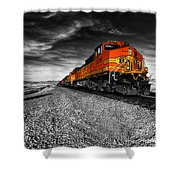 Power Of The Santa Fe  Shower Curtain by Rob Hawkins