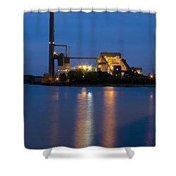 Power Plant Shower Curtain by Adam Romanowicz