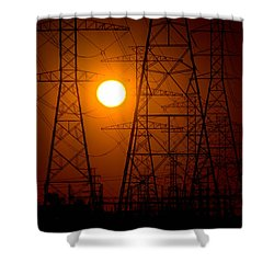 Shower Curtain featuring the photograph Power by Travis Burgess