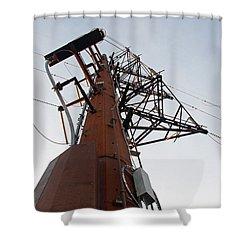 Power Up Shower Curtain by Minnie Lippiatt