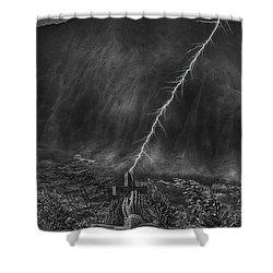 Powerful Message Shower Curtain by Douglas Barnard